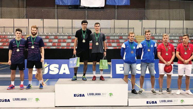 Aluno do Técnico foi um dos vencedores do Campeonato Europeu Universitário de Badminton