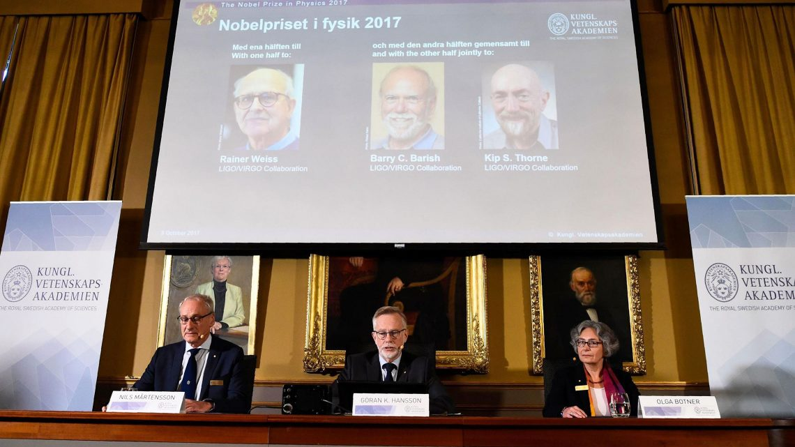 Nobel prize in physics 2017 awarded for discovery of gravitational waves