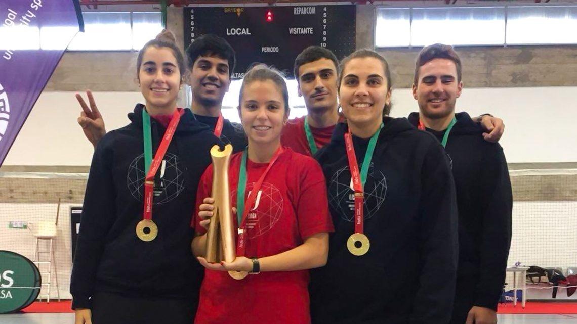 Alunos do Técnico sagram-se tricampeões nacionais universitários de badminton