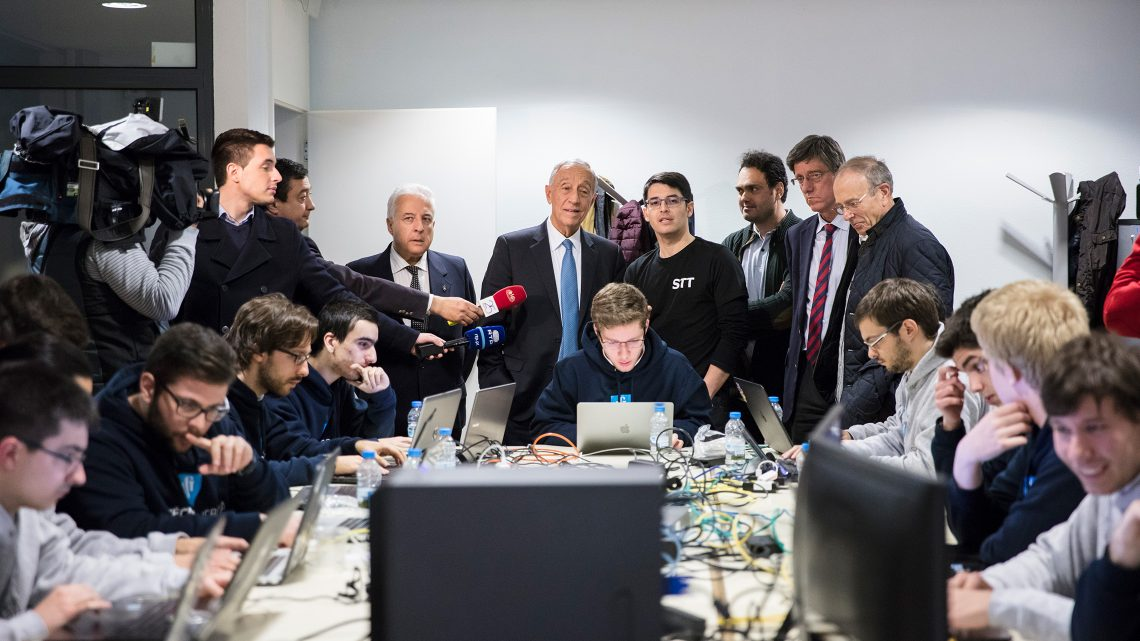 The President of the Portuguese Republic brought good luck to STT team