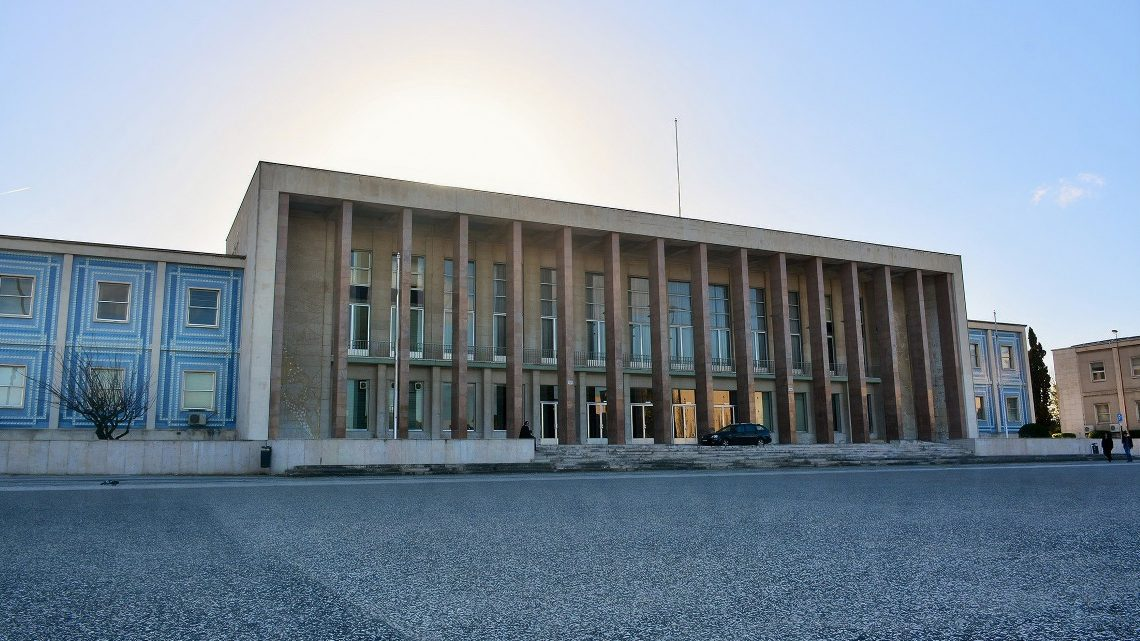 Fachada da Reitoria da Universidade de Lisboa.