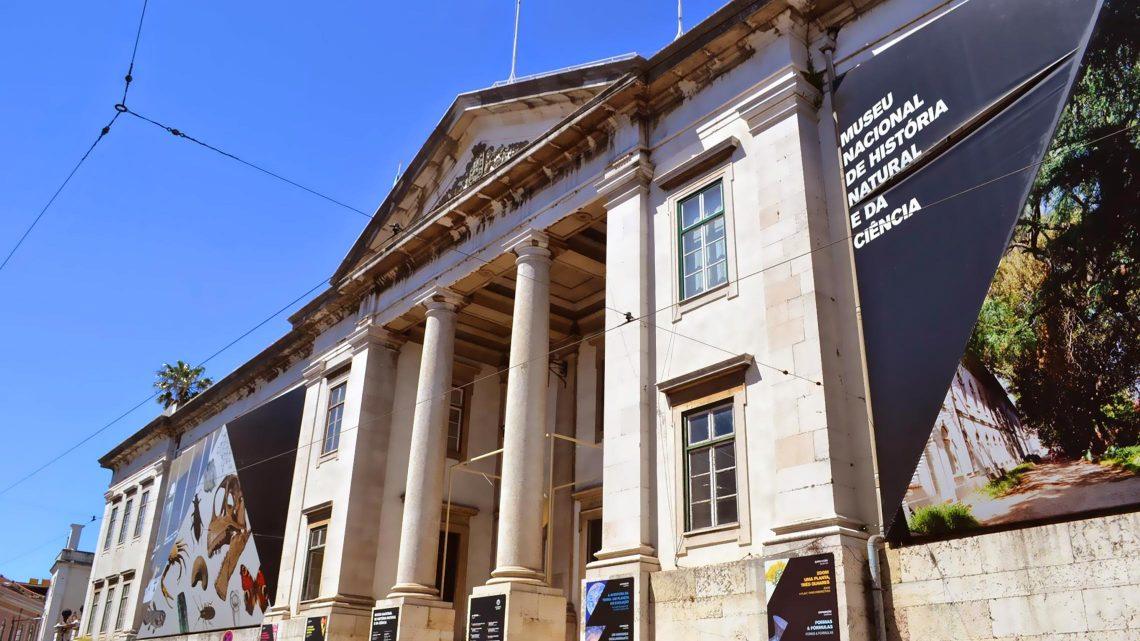 Fachada do Museu Nacional de História Natural e Ciência, em Lisboa