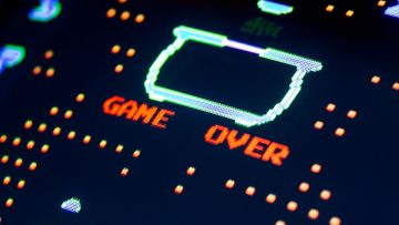 Game Over screen of a computer game