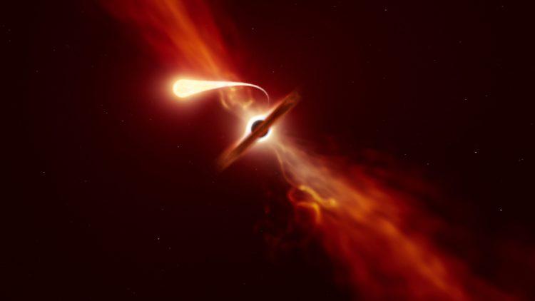 Morte por esparguetificação: Telescópios do ESO registam os últimos momentos de estrela a ser devorada por um buraco negro